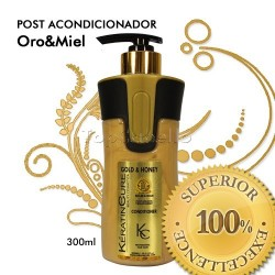 Keratin Cure - Post Acondicionador Oro Miel 300ml