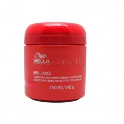 Wella Mascarilla Brilliance Cabello Coloreado Fino o Normal