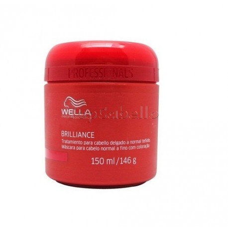 Wella Mascarilla Brilliance Cabello Teñido Fino o Normal