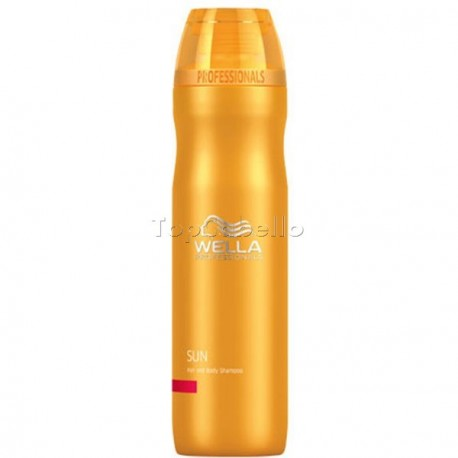 Champú Solar Cuerpo y Cabello Wella Sun Hair and Body 250ml.