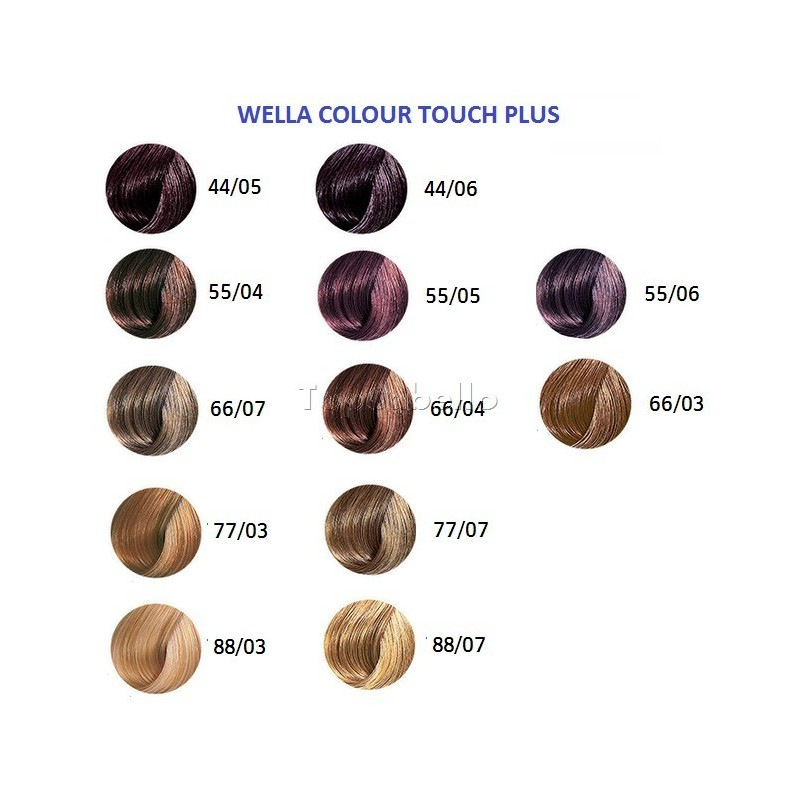 Tinte semipermanente wella colour touch plus 60ml canas - Bano de color wella ...