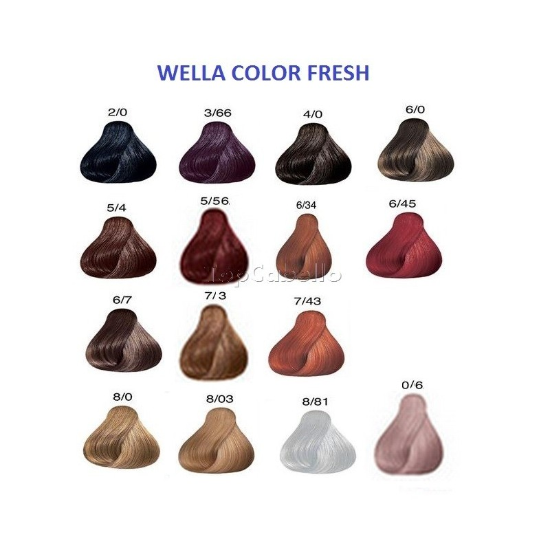 Wella Color Fresh Color Chart