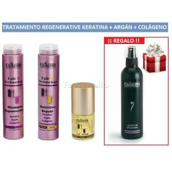 Pack Regenerative Keratina+Argán+Colágeno EXITENN + Loción Brushing Regalo
