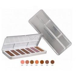 Paleta Maquillaje para Pómulos Velvet Blush Stage Line Laurendor 7 Godets