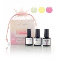 Mini Kit esmaltado semipermanente Gelacker PASTEL Ce Chic (3 x 7,5ml)
