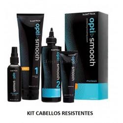 Kit de Alisado Opti.Smooth Pro-Keratin MATRIX Desrizante CABELLOS RESISTENTES 250ml