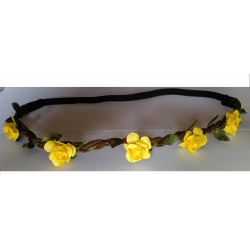 Headband Estilo Floral Color AMARILLO
