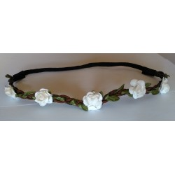 Headband Estilo Floral Color BLANCO