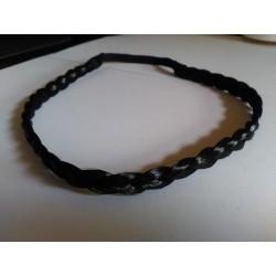 Headband Trenza Fina Color NEGRO