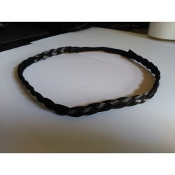 Headband Trenza Fina Color CASTAÑO OSCURO