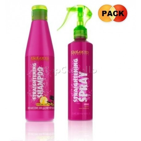 Pack Straightening Salerm (Champú alisado 250 ml+Spray alisado antifrizz 250ml)