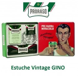Estuche Regalo Vintage GINO Proraso (Línea afeitado clásica)