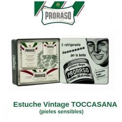 Estuche Regalo Vintage TOCCASANA Proraso (Línea afeitado pieles sensibles)