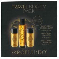 Pack de Viaje Orofluido REVLON (Champú + Acondicionador + Serum Elixir)