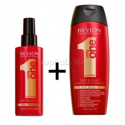 Pack UNIQ ONE Revlon (Tratamiento 150ml + Champú 300ml)