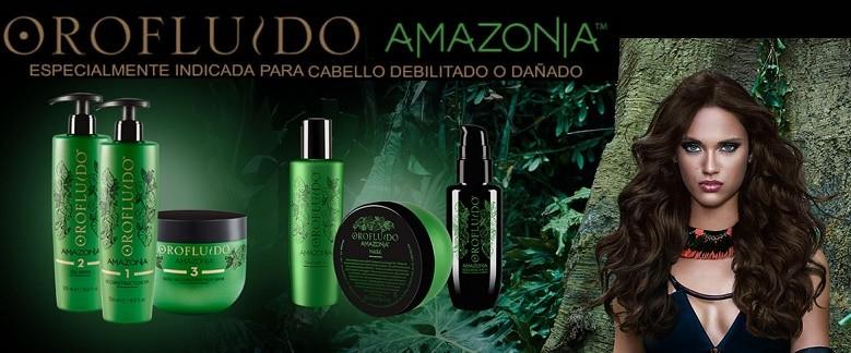 Revlon Orofluido Amazonia para Cabellos dañados y debilitados - Champu Amazonia, Mascarilla Amazonia, Balsamo Reparador Amazonia