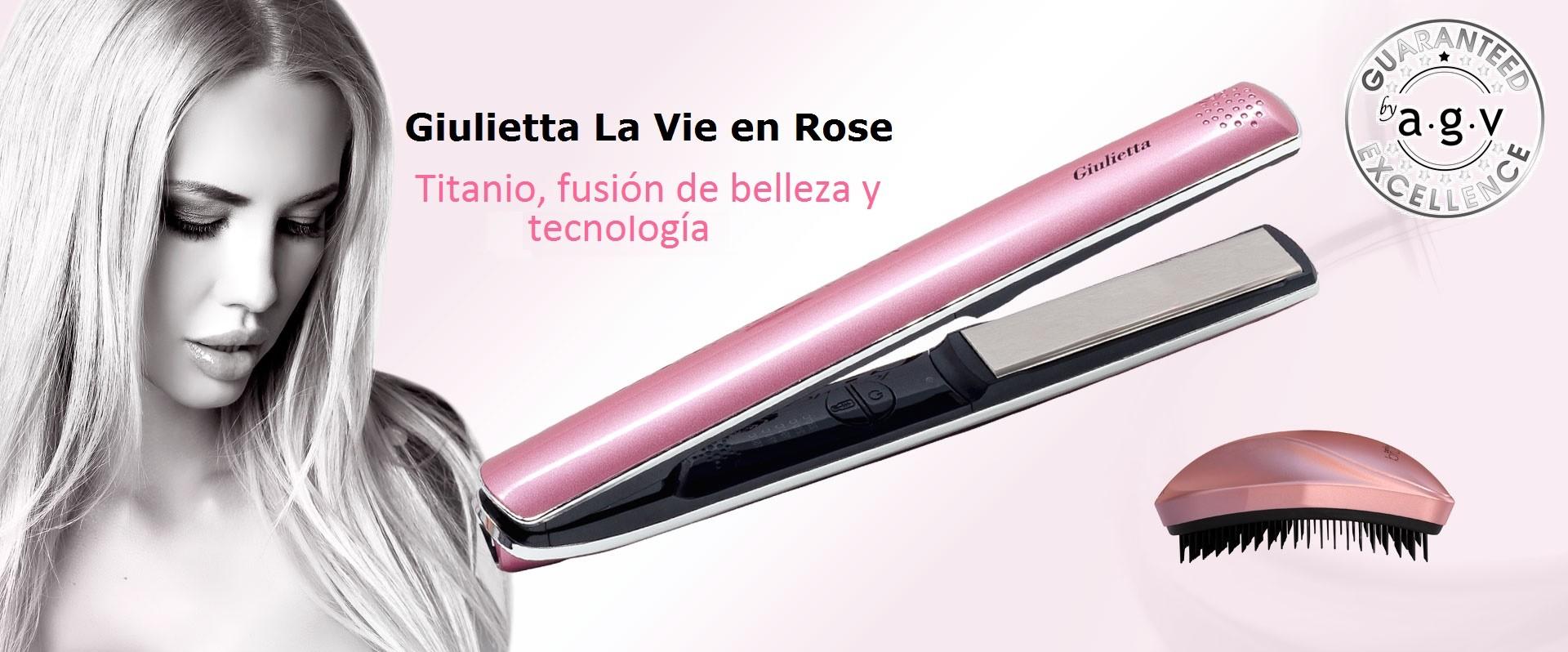 Nueva Plancha GIULIETTA LA VIE EN ROSE by agv, fusión de elegancia y tecnología