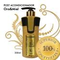 Keratin Cure - Post Acondicionador Oro Miel 300ml