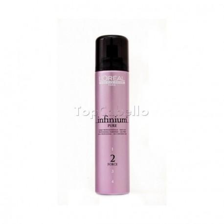 Laca Infinium Pure Normal Sin Gas Fuerza 2 LOREAL 250 ml