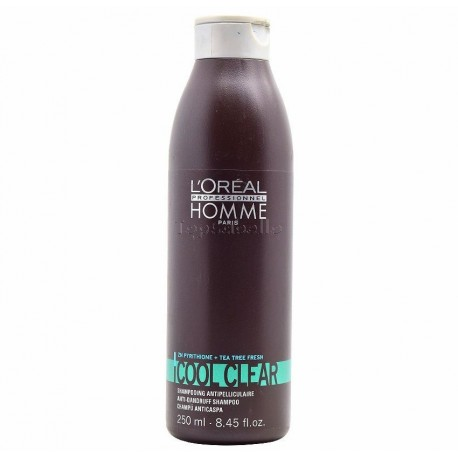 Champú Anti Caspa Homme Cool Clear LOREAL 250 ml