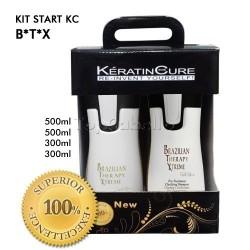TopCabello - Keratine Cure BTX Brazilian Therapy Xtreme Kit Iniciación 500ml + 300ml - Tratamiento 4 Productos