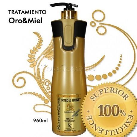 Keratin Cure - Tratamiento Keratina Oro Miel 1000ml