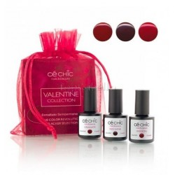 Mini Kit esmaltado semipermanente Gelacker VALENTINE Ce Chic (3 x 7,5ml)