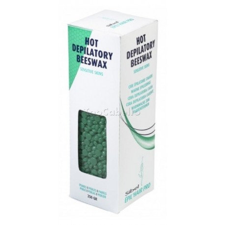 Cera Perlas Verde Pieles Sensibles Sibel 250g