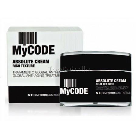 Tratamiento Global Antiedad MyCode Absolute Cream RICH SUMMECOSMETICS 50ml