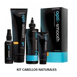 Kit de Alisado Opti.Smooth Pro-Keratin MATRIX Desrizante CABELLOS NATURALES 250ml