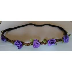 Diadema Flores - Headband Estilo Floral Color LILA