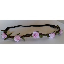Headband Estilo Floral Color ROSA