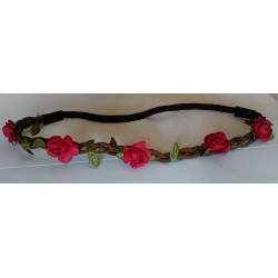 Headband Estilo Floral Color ROJO