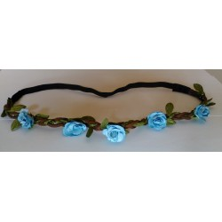 Headband Estilo Floral Color AZUL