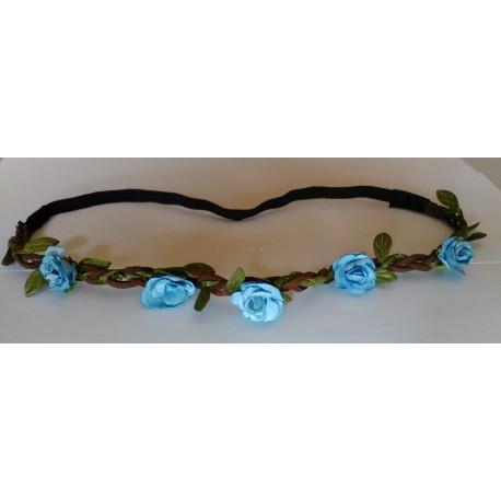 Headband Estilo Floral Color AZUL