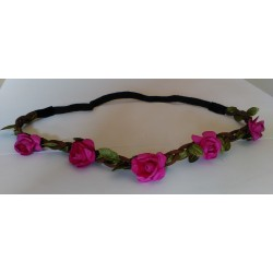 Headband Estilo Floral Color FUCSIA