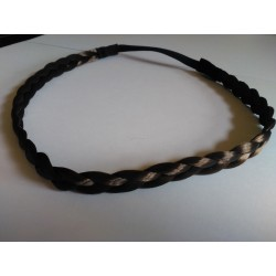 Headband Trenza Fina Color CAFÉ
