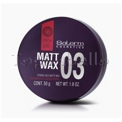 Cera de Peinado Salerm Proline 03 Matt Wax 50ml