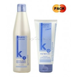 Pack KERATIN-SHOT (Champú Keratina 500ml + Mascarilla Deep Impact Plus 200ml)