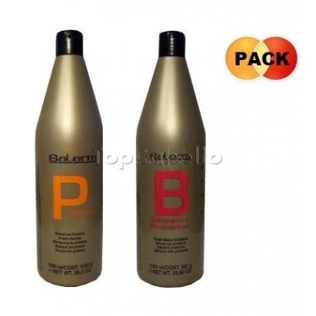 Pack XXL Salerm Proteínas (Champú 1L + Acondicionador 1L)