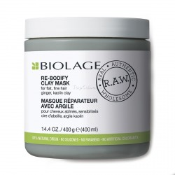 Mascarilla MATRIX Biolage RAW RE BODIFY CLAY MASK 400ml (0% parabenos 0% siliconas 0% colorantes)