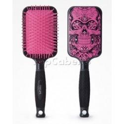 Cepillo Raqueta Calavera Catrin Pink Bifull