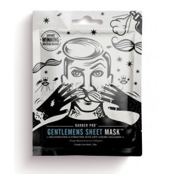 Máscara Facial Anti-Arrugas GENTLEMENS SHEET MASK Barber Pro