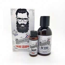 Champú de Color Semipermante BEARDBURYS Color MORENO (para cabello,barba y bigote)