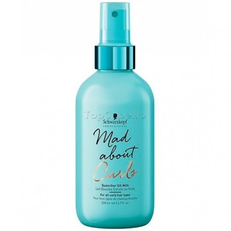 Quencher Oil Milk Mad About Curls Schwarzkopf 200ml para cabello rizado
