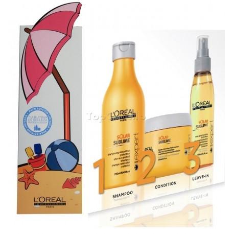 Pack SOLAR SUBLIME L'Oreal (Champú + Mascarilla + Spray)
