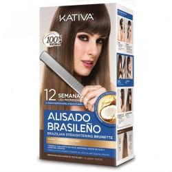 Kit Alisado Brasileño con Queratina CABELLOS OSCUROS KATIVA
