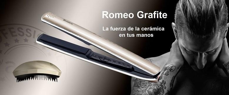 Nueva Plancha ROMEO GRAFITE by AGV, la fuerza de la ceramica en tus manos